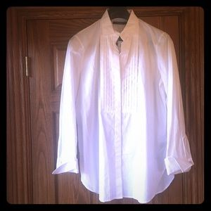 Lauren long white cotton shirt